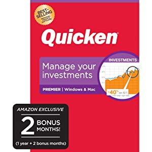 Quicken Premier Budget Manage Money Personal Finance Computer Laptop Investment Track Stocks