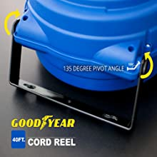 goodyear reelworks extension cord reel 12 14 16 awg 33' 40' 50' 65' tool home improvement automotive