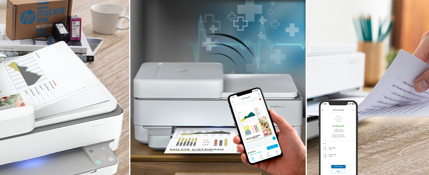 mobile printing self-healing wi-fi instant ink contextual control panel hp smart app auto 2-sided