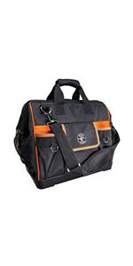 Tool Bag, Tradesman Pro Tech Bag with Laptop Pocket, Black