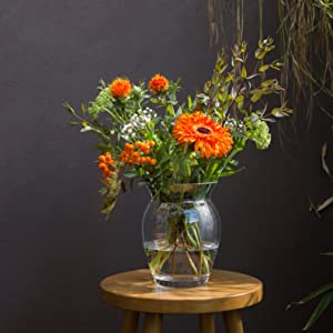 VA2046-O Dartington Crystal Florabundance Handmade Posy Flower Vase in a Box