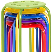 Stack Stool Set - Stackable Nesting Stools/Chairs for Kids and Adults - Flexible Seating for Home
