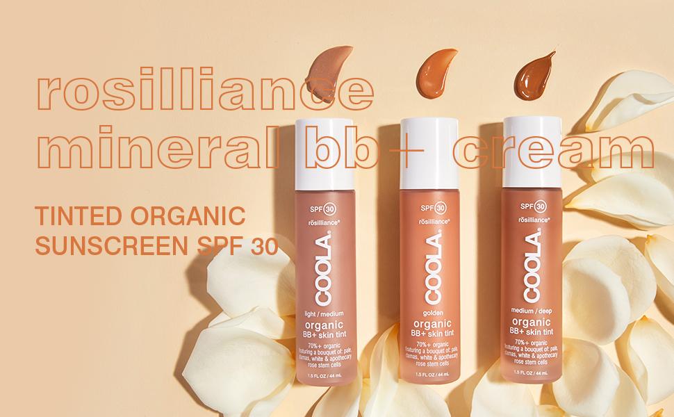 rosilliance mineral bb+ cream tinted organic sunscreen spf 30