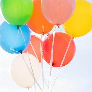 latexballons, ballons, ballon, mehrfarbig, helium, Heliumballons