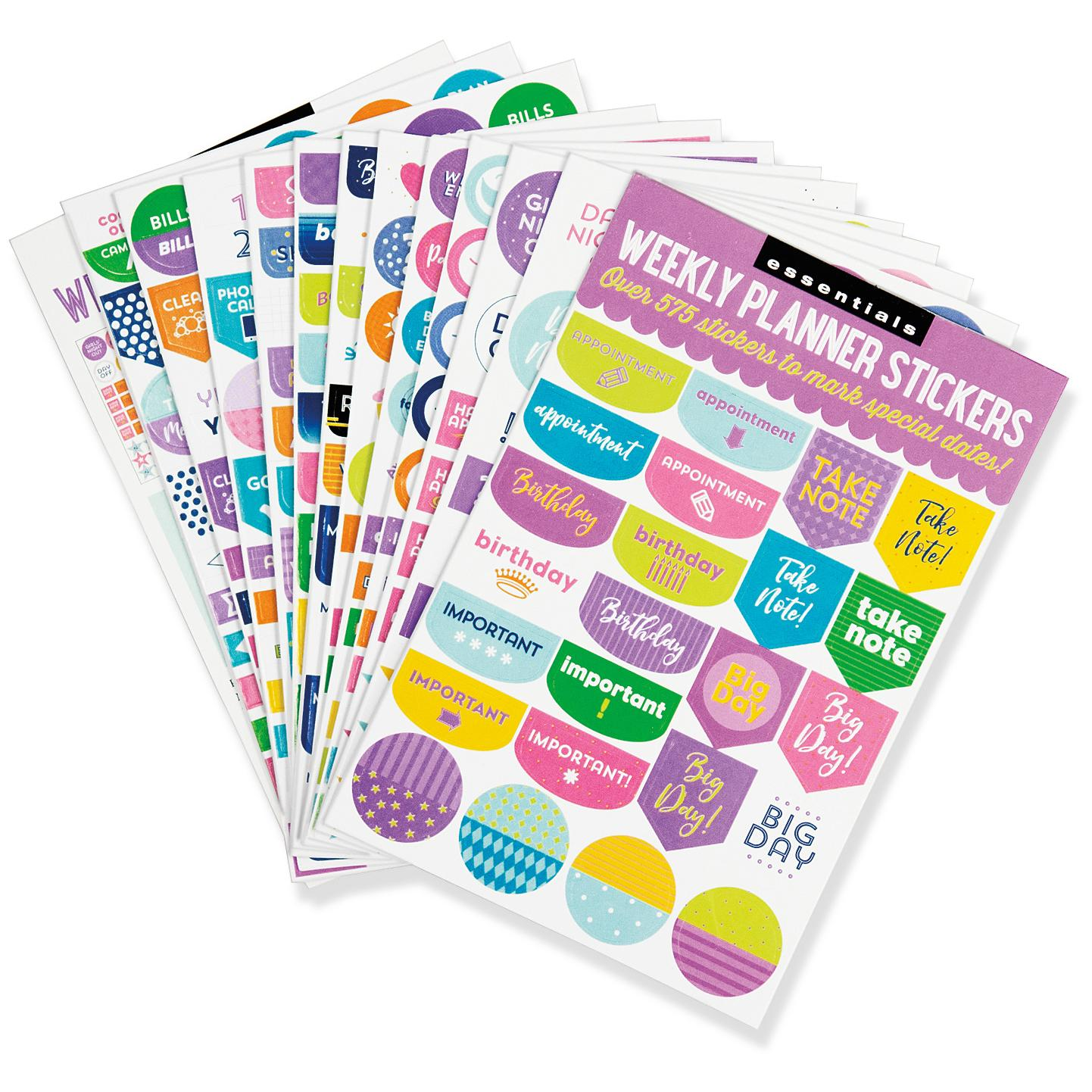 Essentials Weekly Planner Stickers (Set of 575 Stickers ...