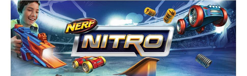 nerf; juegos de disparo; juguetes; nerf nitro; lanzador coches; vortex