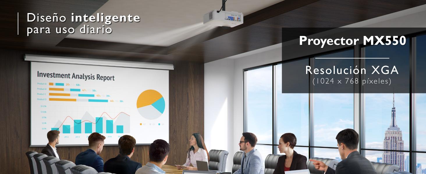 MX550; BenQ; Proyector; XGA; DLP; Alto contraste; Proyector para oficina; Proyector para educación;
