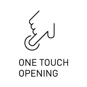 One touch opening easy open and close