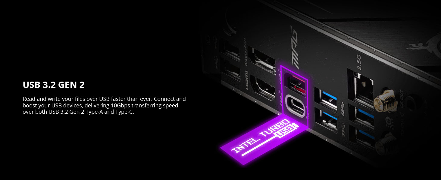 msi, mpg z490m gaming edge wifi, usb 3.2 gen 2, type-c reversible
