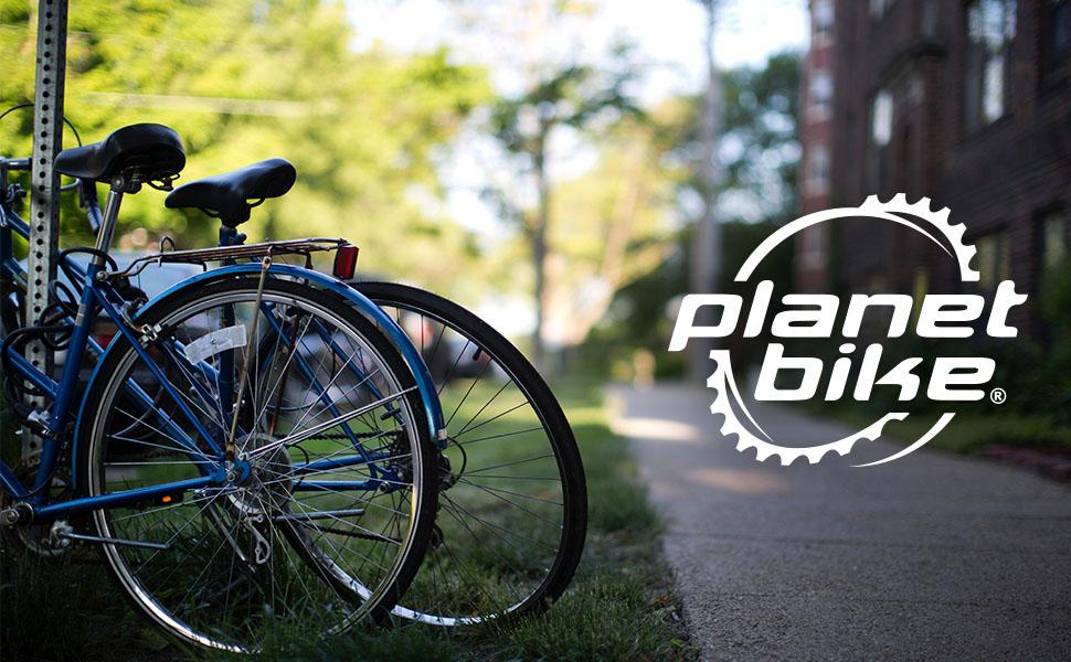 Planet Bike accessories lights racks fenders bicycle locks pumps bottle cages