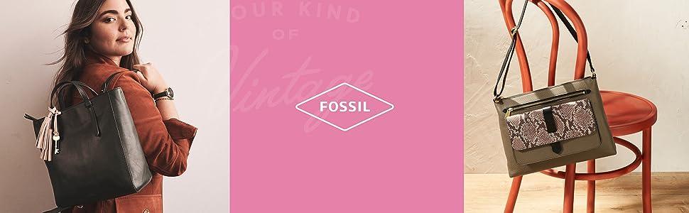 Fossil leather bag, fossil hand bag, handbag, leather bag, purse, leather purse, fossil women