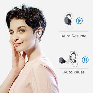 Waterproof Earbuds Stereo Headphones Built-in Mic