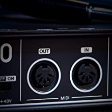 MIDI input and output