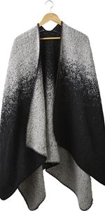 shawl;womens sweater cape;poncho sweater;womens poncho;shawl blanket;black cape;wool black scarf;