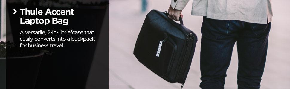 Thule laptop bag, convertible laptop bag, hybrid bag, laptop case, removable straps