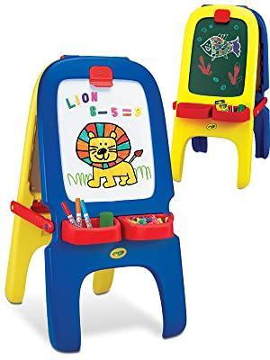 Amazon Com Crayola Magnetic Double Sided Easel Toys Amp Games