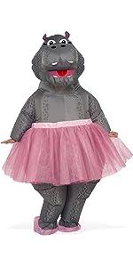 dancing hippo, hippo pink tutu, ballerina hippo