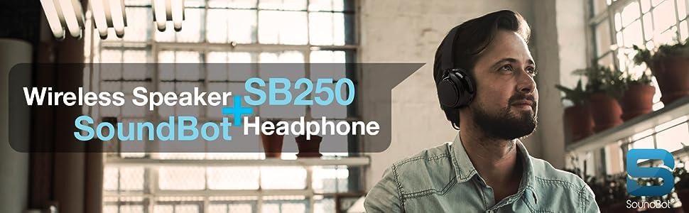SoundBot SB250 Wireless Speaker Headphone