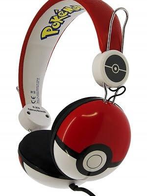 OTL Technologies TWEEN Kinder Kopfhörer Pokemon Pokeball (faltbar, gepolsterte Bügel, buntes Comic Design, für Jungen und Mädchen) RotWeiß