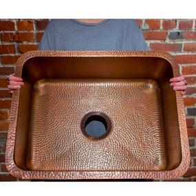 Cooper Kitchen Sink Sinkology sk201 23ac classic renoir undermount copper sink 23 in copper kitchen sink sinkology renoir undermount sk201 23ac workwithnaturefo