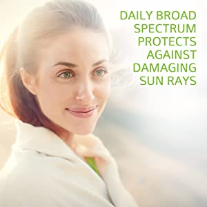 Daily broad spectrum protects against damaging sunrays.