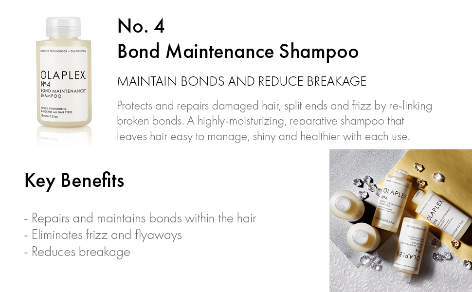 Bond maintenance shampoo, maintain bonds and reduce breakage.