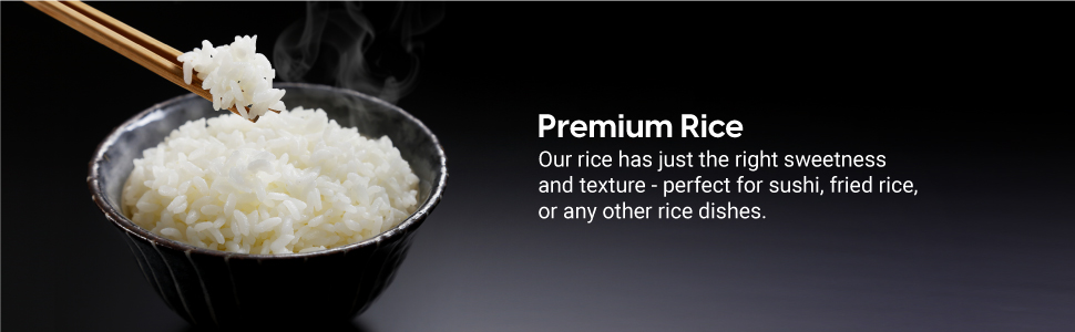 Premium Rice, sushi, fried rice, sweetness, texture, rice dishes