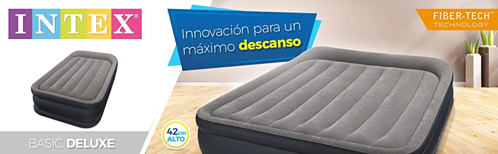 Intex 64132 - Colchón hinchable Dura-Beam Standard Deluxe Pillow 99 x 191 x 42 cm