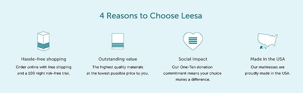 Reasons to choose Leesa mattresses