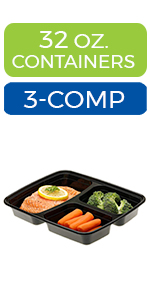 meal prep containers 3 compartments