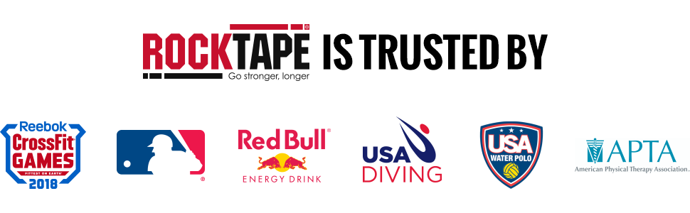 RockTape is trusted by CrossFit, Major League Baseball, Redbull, USA Diving, USA Water Polo and more