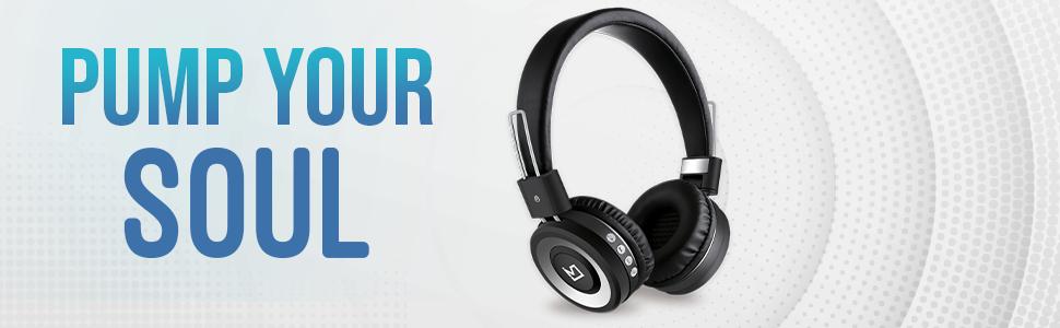 iVoltaa Headphones bluetooth x100 Aux BT earphones