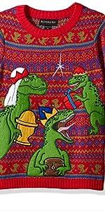 Boys christmas sweater, funny christmas sweater for boys, dinosaur Christmas sweater, funny xmas