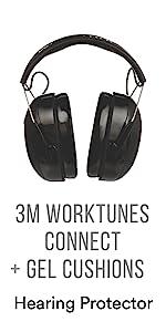 3M WorkTunes Connect + Gel Cushion
