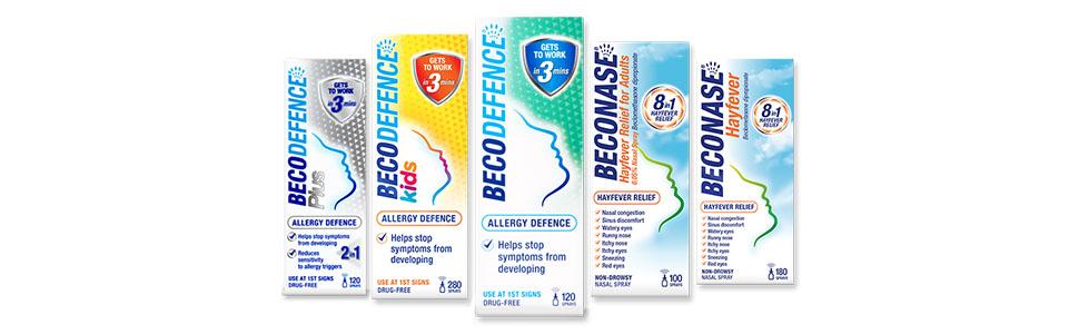 Beconase and Becodefence range