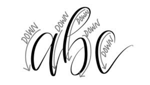 hand-lettering, faux calligraphy