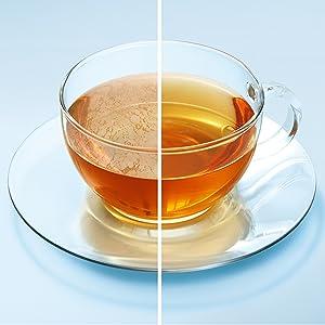 お茶の色もきれいに