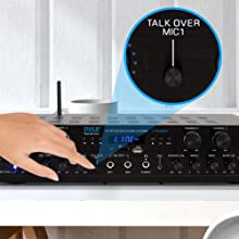Wireless Home Audio Amplifier System; Bluetooth Compatible Sound Stereo Receiver Amp; 6 Channel