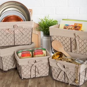 storage basket,sorage basket,wire shelfliner,rustic storage,kitchen décor baking,fruit basket rustic
