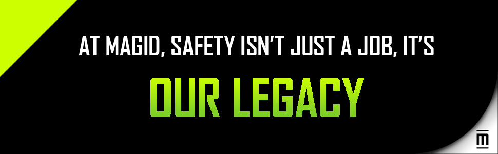 Magid, Safety, Legacy, Job, Green, White, Black, Footer Image