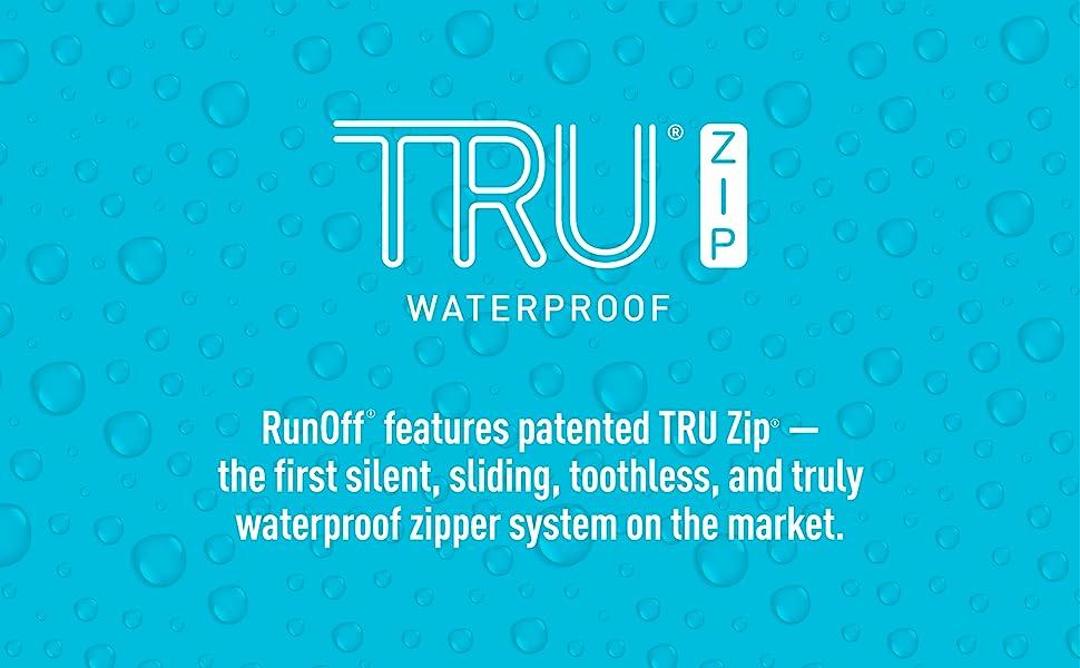 TRU-zip, TRU zip, waterproof zipper