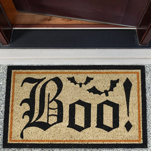 outdoor, halloween, decorations, boo, witches, doormats, patio, entryway, welcome, greeting