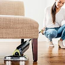 Easily clean underneath furniture