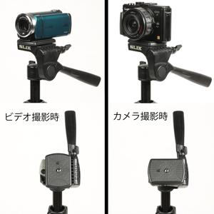 ビデオでもカメラでも