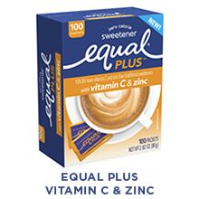 Equal PLUS with vitamin C amp; zinc