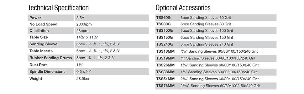 Triton Tools Tsps450 Oscillating Spindle Sander Amazon Ca Tools Amp Home Improvement