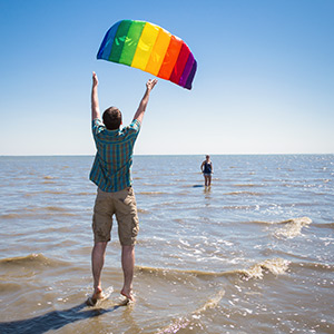 Lenkmatte Symphony Beach III 2.2 Sport Rainbow mit Controlbar Lenkdrachen Kite