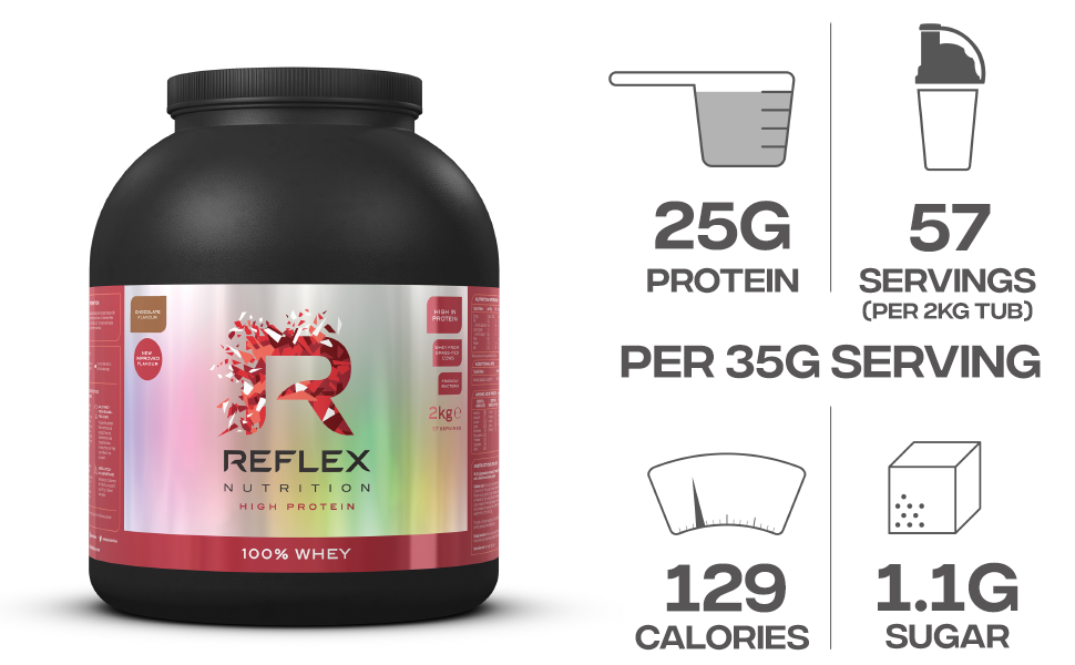 Reflex Nutrition 100% Whey (2000g) Chocolate Perfection - 1 ...