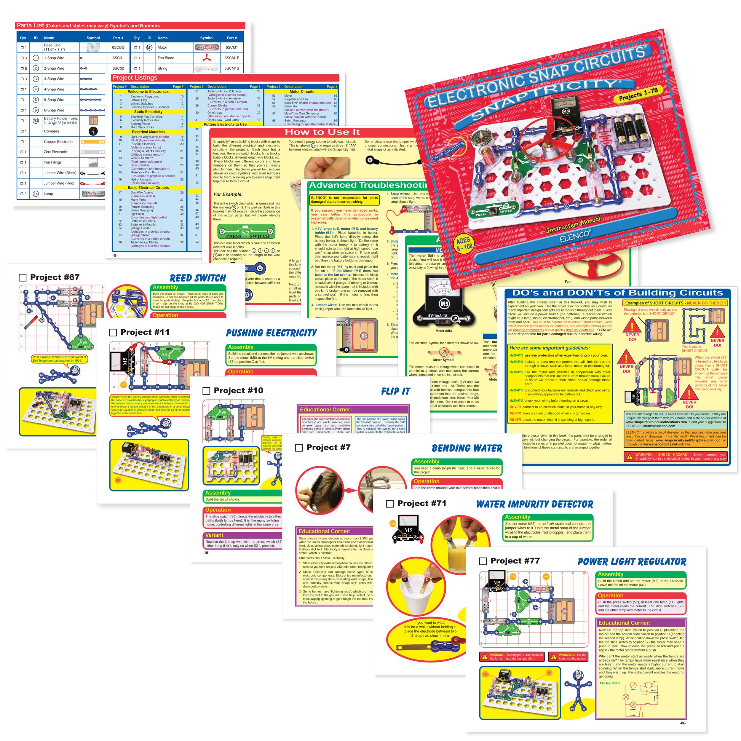 elenco snap circuits snaptricity  electronics kits amazon canada Snap Circuits Beginner snap circuits jr instruction manual