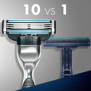 Gillette - Gillette Mach3 - Hojas de afeitar para hombres - 8 unidades